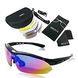 LIBERTA(リベルタ) スポーツサングラス 偏光サングラス 偏光レンズ 交換用レンズ5枚 メンズ レディース ブラック