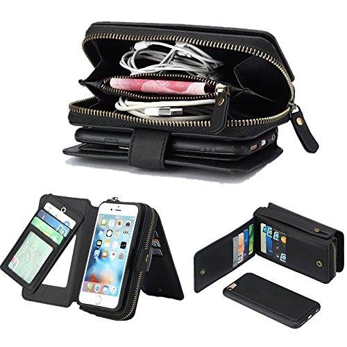 Zoeking iPhone 5/5se/5s ケース 手帳型 おしゃれ iphone5s 財布型 高品質のPUレザー 分離式 二つ折り ウォ...