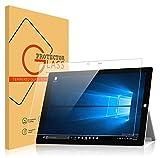 Millko Microsoft Surface Pro 4 強化ガラスフィルム 液晶保護 0.3mm 飛散防止 12.3インチ マイクロソフト サーフェス プロ4 国産ガラス素材 (クリア)