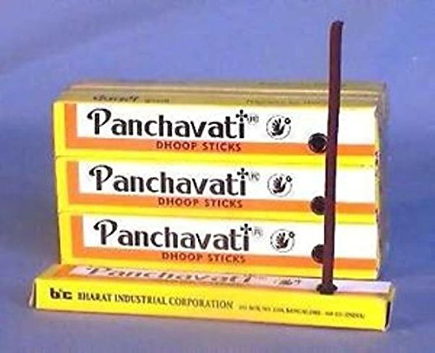 スラム後方ぬるいPanchavati Dhoop Sticks Small Incense 48 Boxes x 10 = 480 Sticks