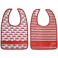 Lunchskins Dishwasher Safe Pocket Bib Set (Red Car) by LunchSkins