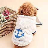 Haibei 犬服 猫服 秋冬服 暖かいふわふわ 犬の服 パーカーコート ペット服 ドッグウェア