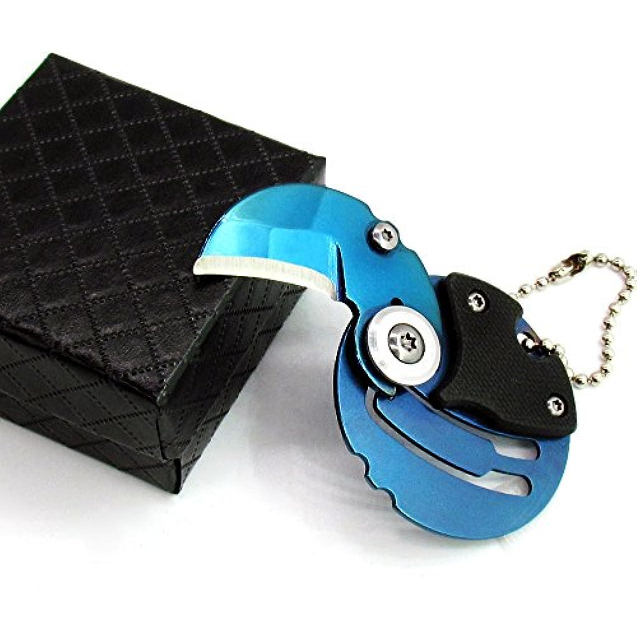 裁判所結紮到着するコイン形状折りたたみポケットナイフYMWクリエイティブセーフティロックボタンステンレス鋼屋外シャープミニツールフェスティバルギフト(4色)1 Knife