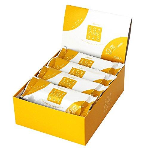 [2017年 新発売 | 糖質制限・ダイエット中にピッタリな砂糖不使用でグルテンフリー] ソイピュアバー チーズ 33g×12本