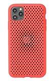 AndMesh iPhone11 Pro Max ケース Mesh Case 耐衝撃 Qi対応 レッド 612-960939