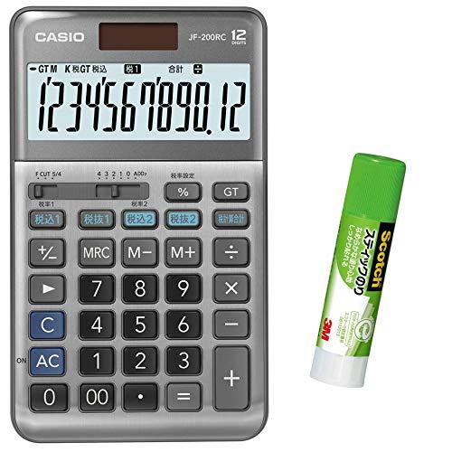 カシオ CASIO 12桁 軽減税率電卓 税計算 ジャストタイプ JF-TK20 特典付きセット