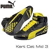 PUMA レーシングシューズ Kart Cat MID3 BLACK/YELLOW サイズ41(26.5cm)