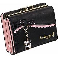 ef44f1d1c9cd おしゃれ かわいい 猫の 二つ折り 財布 レディース 小さい ねこ さいふ 学生用 ...