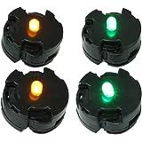 NakaIshi LEDユニット ライト 電飾 照明 パーツ 配線不要 フィギュア プラモデル ジオラマ 模型 (緑2個…
