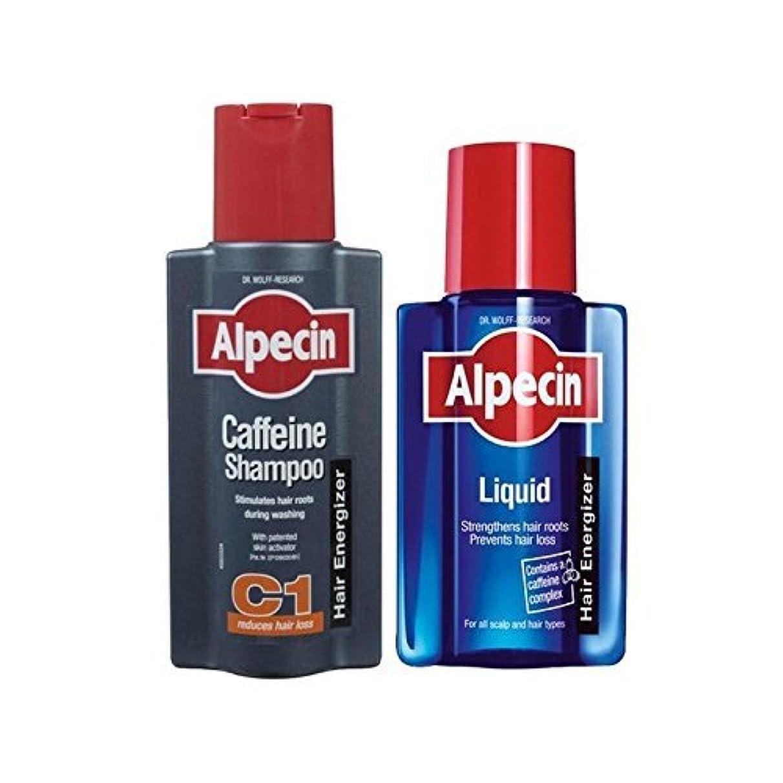 Alpecin Liquid And Caffeine Shampoo Duo - 液体とカフェインシャンプーデュオ [並行輸入品]