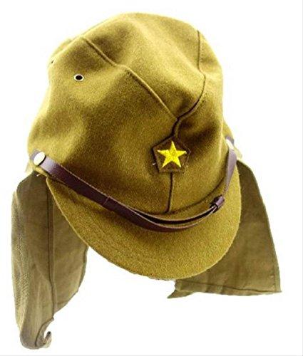 旧 日本軍 帝国 陸軍 下士官兵 帽子 帽垂れ ウール 製 レプリ・・・