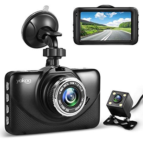 YOKOOドライブレコーダー 前後カメラ デュアルレンズ SONYセンサー搭載 3.0インチIPS高画質パネル 170°広角 常時録画 動体検知 Gセンサー 駐車監視 暗視機能 ループ録画 日本語説明書付き