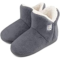 Dailybella Women Warm Plush Slipper Boots Cozy Wool Indoor Outdoor Home Shoes