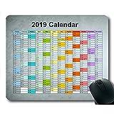 2019カレンダーマウスパッドマット、カレンダースクールゲームマウスマット、カレンダープランナー2019休日の詳細
