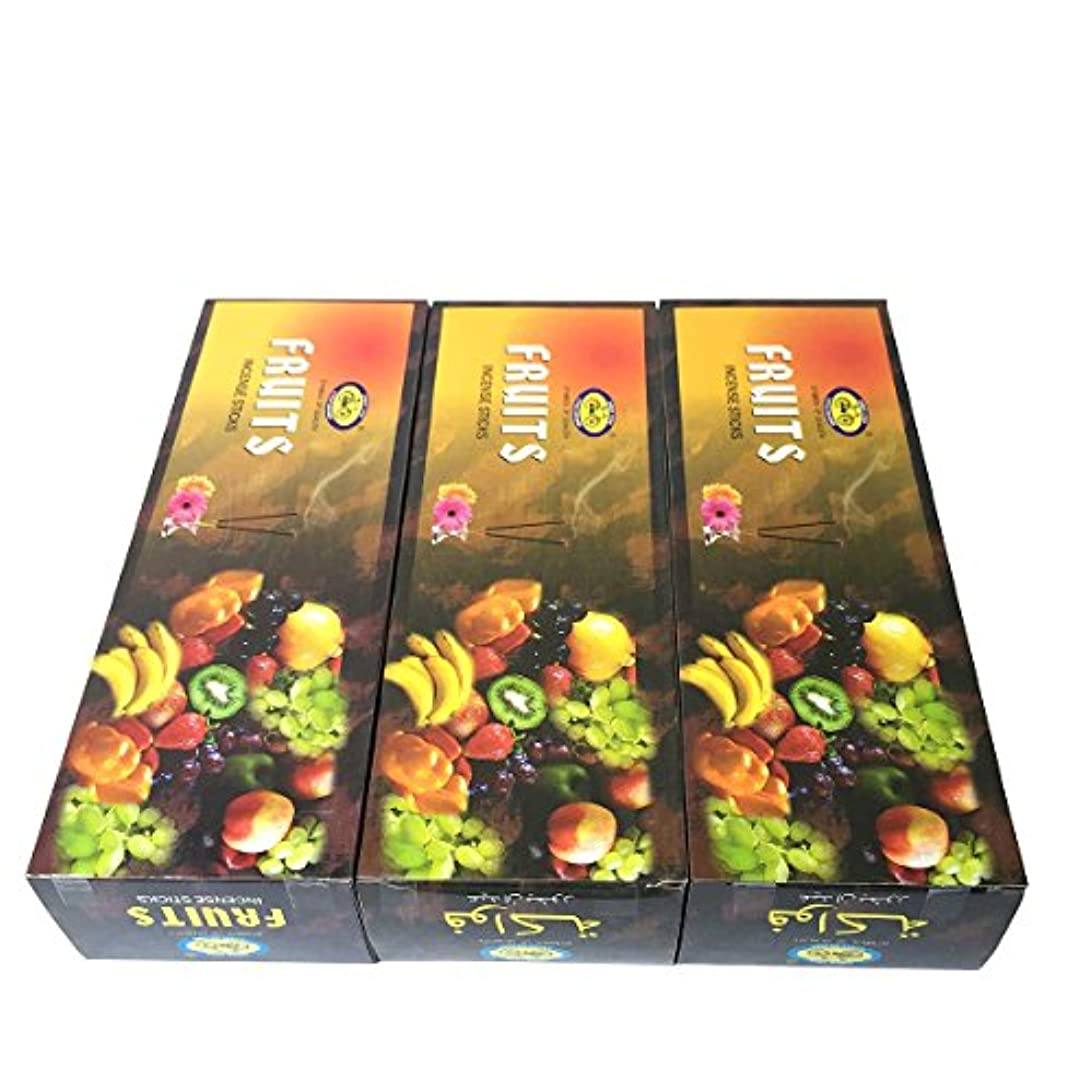 文字ストリップ二度フルーツ香スティック 3BOX(18箱) /CYCLE FRUITS/インセンス/インド香 お香 [並行輸入品]