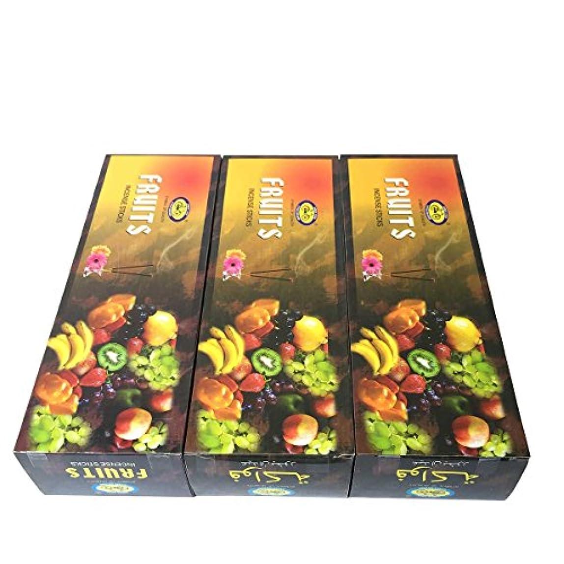 畝間球体心理的フルーツ香スティック 3BOX(18箱) /CYCLE FRUITS/インセンス/インド香 お香 [並行輸入品]