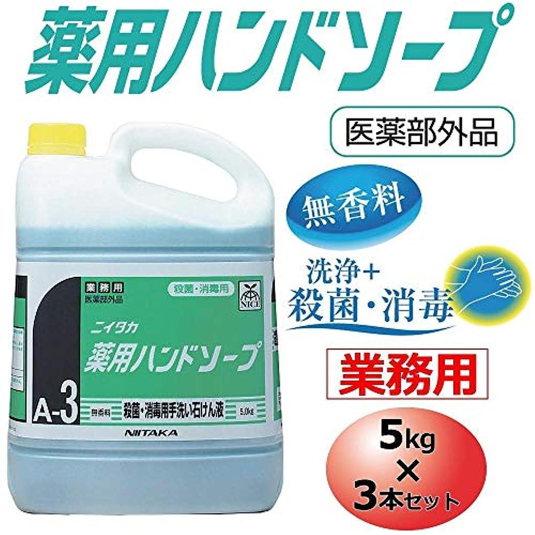 液化するナースセンブランス業務用 薬用ハンドソープ(A-3) 5kg×3本セット 250140【同梱?代引不可】
