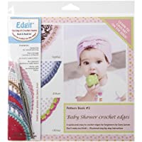 Edgit Piercing Crochet Hook & Book Set-Baby Shower Crochet Edges (並行輸入品)