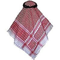 Bethlehem Gifts TM Traditional Palestinian Keffiyeh Shemagh Agal Rope from The Middle East (Red Keffiyeh with Agal)