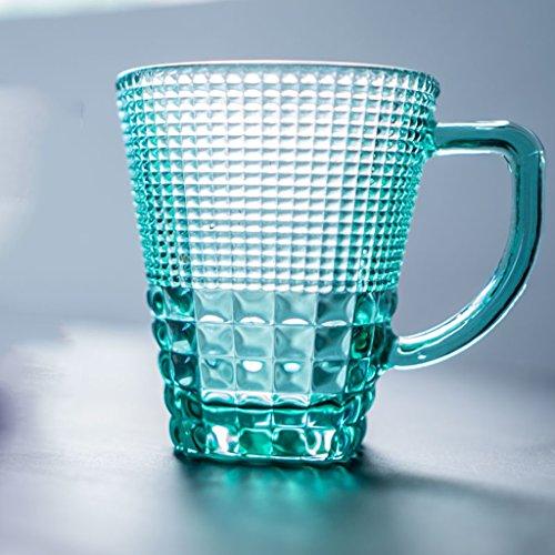 CKH カラーテープ彫刻ガラスの人格茶カップ耐熱家庭用ガラス...