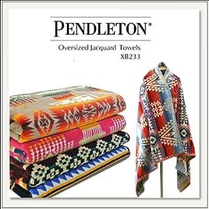 【PENDLETON(ペンドルトン)】100×180cm Oversized Jacquard Towel(ジャガードタオル) XB233[大判ブランケット][バスタオル][ひざ掛け][ウール] (Canyonlonds(キャニオンランド))