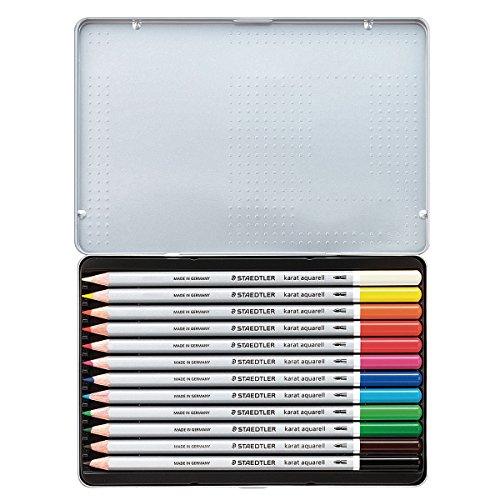 ステッドラー カラトアクェレル水彩色鉛筆 12色セット