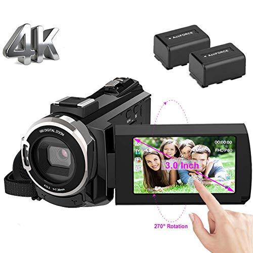 ビデオカメラ 4k デジタルビデオカメラ 48MP WIFI...