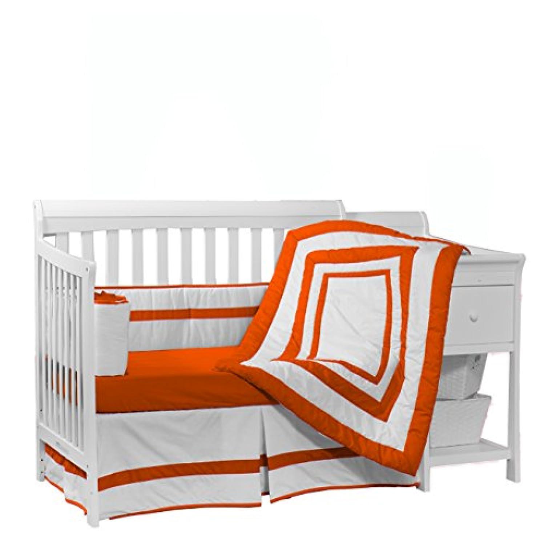 Baby Doll Bedding Modern Hotel Style Crib Bedding Set, Orange by BabyDoll Bedding