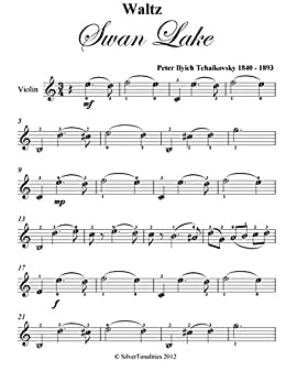 Waltz From Swan Lake Tchaikovsky Easy Violin Sheet Music eBook
