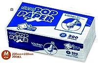 タウパー ポップペーパー M(白)晒 200枚入×25パック【清潔キレイ館】