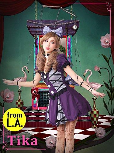 ゆんころ コスプレ着用 衣装 Tika ティカ 5点set 操り人形コスチュームセット (ワンピース・チョーカー・ヘアアクセセット・タイツ) パープル Sサイズ la-hw01385