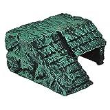 Motina 爬虫類の隠れ家 避け石 安全亀用スドー 樹脂製 リクガメケイブ 水槽の飾り 階段の岩