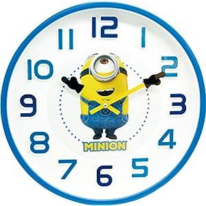 山二 ミニオン ウォールクロック ミニオンが指をさして時間を教えてくれる 8299 立体文字 ver. 99829900