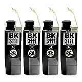 LC3111-BK/ブラック 4本セット [Brother]ブラザー 新互換インクカートリッジLED・残量表示付き (最新型ICチップ付き) 【A.I.S製品】