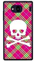 SECOND SKIN スカルパンク ピンク (クリア) / for Qua phone QX KYV42・DIGNO V/au・MVNOスマホ(SIMフリー端末) AKYV42-PCCL-201-Y218