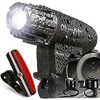 自転車 ライト 防水 usb充電 テールライト ヘッドライト LED フロントライト 高輝度 自転車前照灯 リフレクター 1200mah 200ルーメン 4段階調光 強/中/点滅