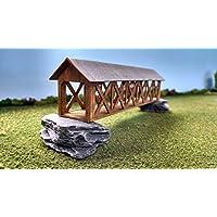 Train時間レーザーNスケールレーザーカットCovered Bridgeキット