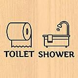 ウォールステッカー トイレ バスルーム シャワー室 ドア toilet 案内 文字 シール