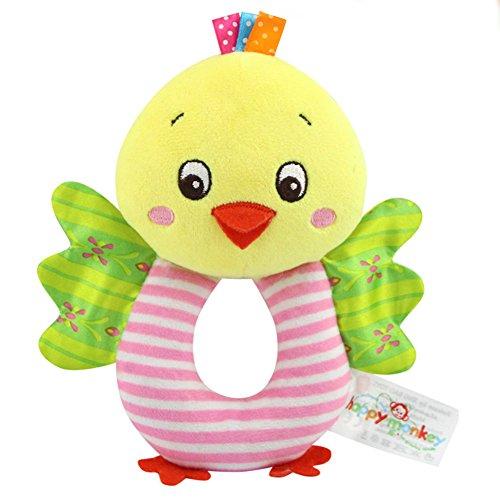 [해외]Liebeye 인형 아기 유아 가지고 파지 손 벨 귀여운 동물 장난감/Liebeye Plush toy baby toddler grip hand bell cute animal toy