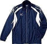 (ミズノ)MIZUNO クロスティック ウインドブレーカーシャツ 32JE4510 14 ドレスネイビー×ホワイト S