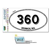 360 - モンロー, WA - ワシントン - 楕円形市外局番ステッカー