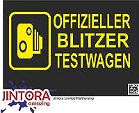 JINTORA ステッカー/カーステッカー - official speedster test car - 公式スピードスターテストカー - 207x99 mm - JDM/Die cut - 車/ウィンドウ/ラップトップ/ウィンドウ - 黄色