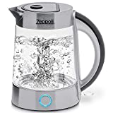 Zeppoli Electric Kettle (BPA Free) (1.7L) ゼポリ・エレクトリック・ケトル BPAフリー 電気ケトル ガラス 湯沸かしポット コードレステンレス 温水ケトル ティーポット 温水ディスペンサー 1.7リットル  [並行輸入品]
