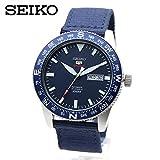 SEIKO SRP665K1 ミリタリー SEIKO5 SPORTS 機械式 腕時計 ネイビー ブルー ナイロンストラップ 自動巻き 手巻き 裏スケルトン [並行輸入品]