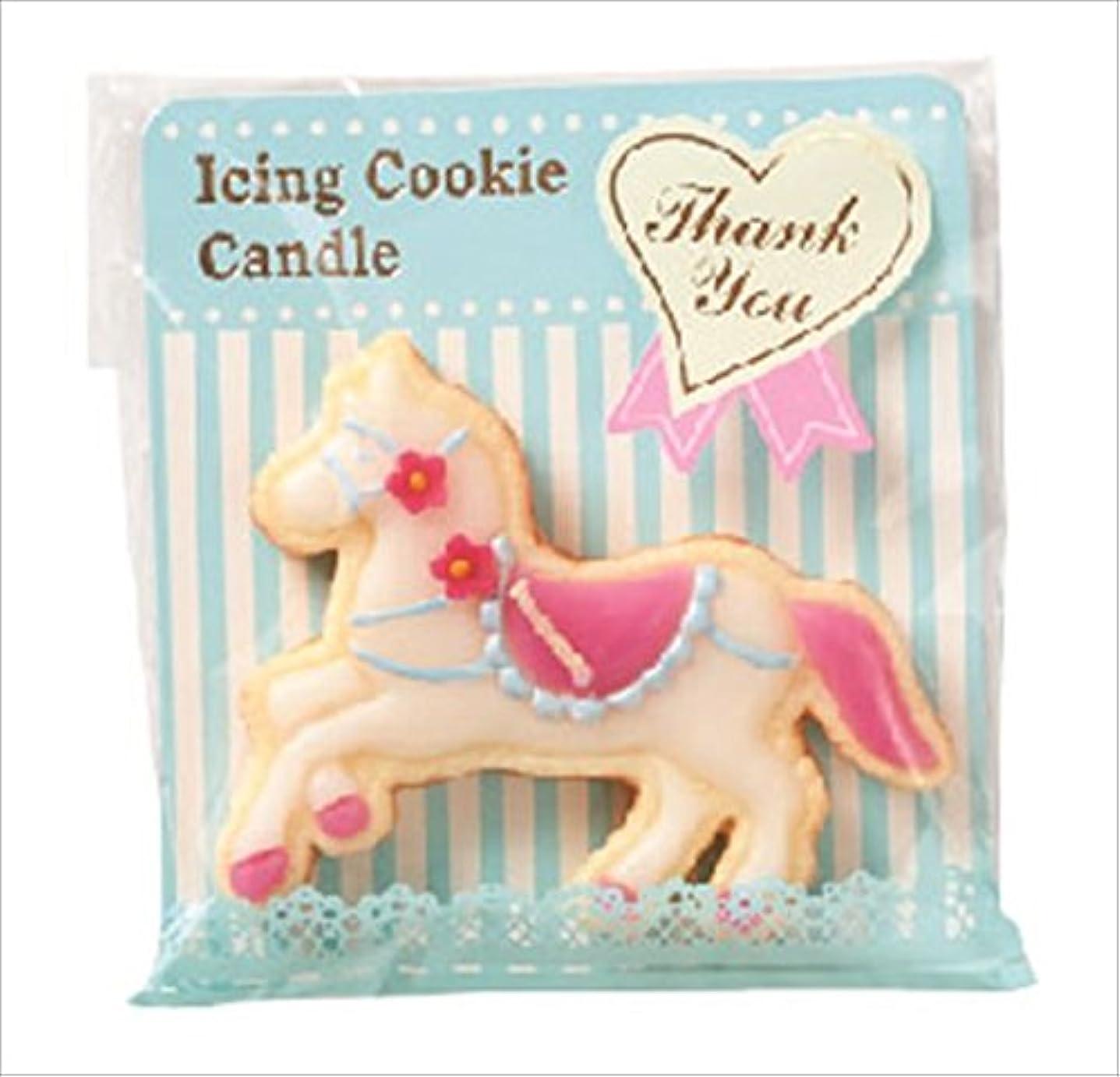 希少性オーロックカウントアップカメヤマキャンドル(kameyama candle) アイシングクッキーキャンドル 「 ピンクホース 」