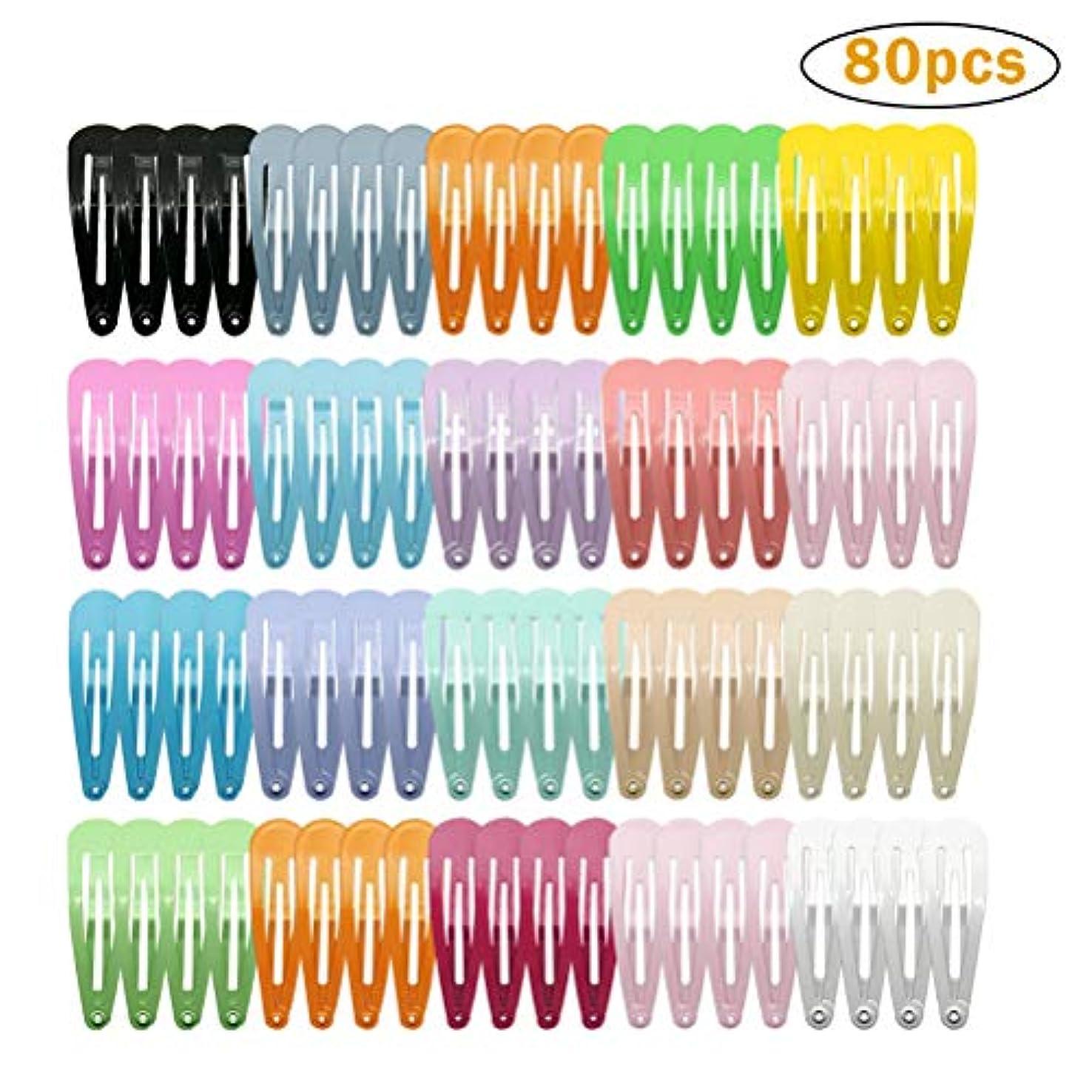 擬人化ジャズ卵ガールズスナップヘアクリップ、ほとんどすべての機会のための手作りバレット-80個
