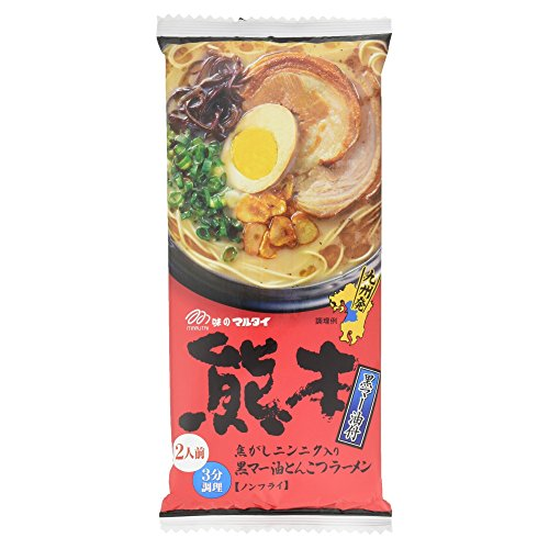 マルタイ 熊本黒マー油とんこつラーメン 2食入 186g
