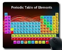 マウスパッド、元素周期表ゲーミングマウスパッド、教室用化学元素別周期表。 厚手ラバー大型マウスパッド
