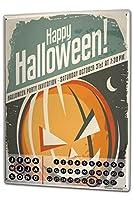 カレンダー Perpetual Calendar Seasons Halloween Tin Metal Magnetic