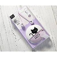 クロネコイヤホン V4.1 高音質再生 マイク内蔵 (Purple)